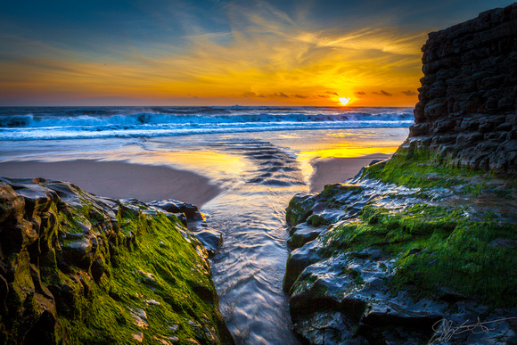 San Vicente Creek, Davenport Beach, California